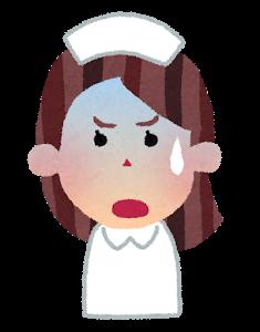 困る看護師